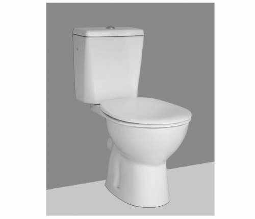 Vitra Carlton, (4316-003-0075),  Close Coupled WC In White